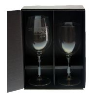 two wine glass gift box