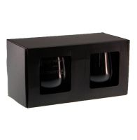 two stemless wine glass gift boxes