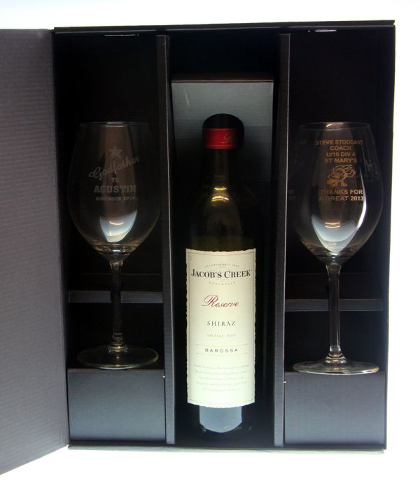 2 Wine Glasses with Bottle Gift Box  sc 1 st  Custom Gift Boxes and Packaging Wedding Promotional Gift Boxes ... & Two Wine Glass with Bottle Gift Box Wine Box Australia | WineBox ... Aboutintivar.Com